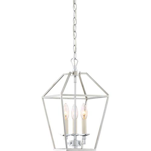 Aviary Polished Nickel 10-Inch Three-Light Mini Pendant