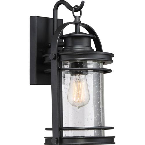 Booker Mystic Black 9-Inch One-Light Outdoor Wall Lantern