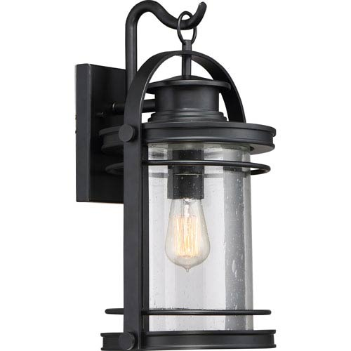 Booker Mystic Black 11-Inch One-Light Outdoor Wall Lantern