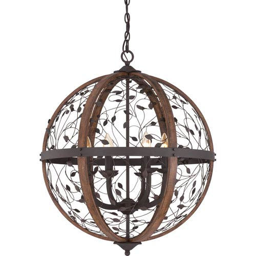 Quoizel Chamber Darkest Bronze Twenty-Four-Inch Pendant
