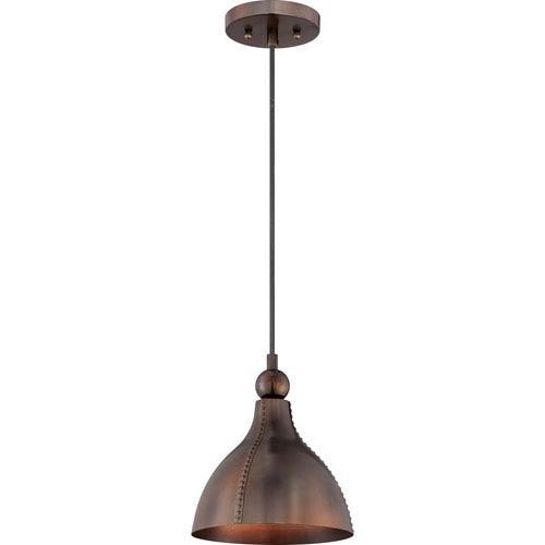 Quoizel Gaston Mottled Bronze One Light Mini Pendant