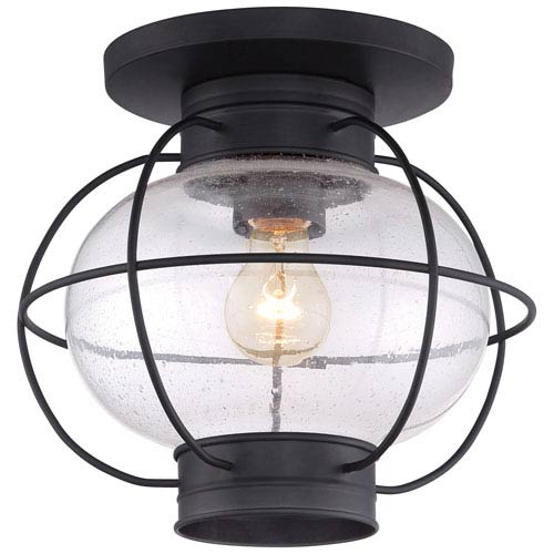 Cooper Mystic Black Eleven-Inch Outdoor Flush Mount
