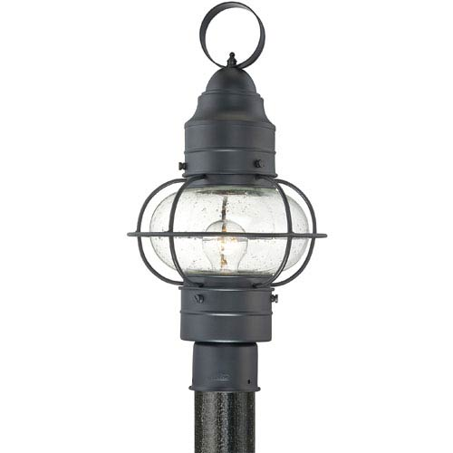 Cooper Mystic Black Small One-Light Outdoor Post Light