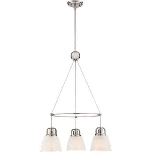 dinette lighting fixtures. Quoizel Dublin Brushed Nickel 23-Inch Three-Light Dinette Chandelier Lighting Fixtures I