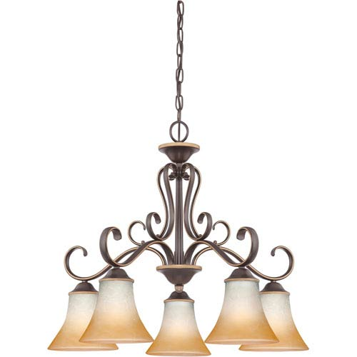 Quoizel Duchess Palladian Bronze Five-Light Chandelier