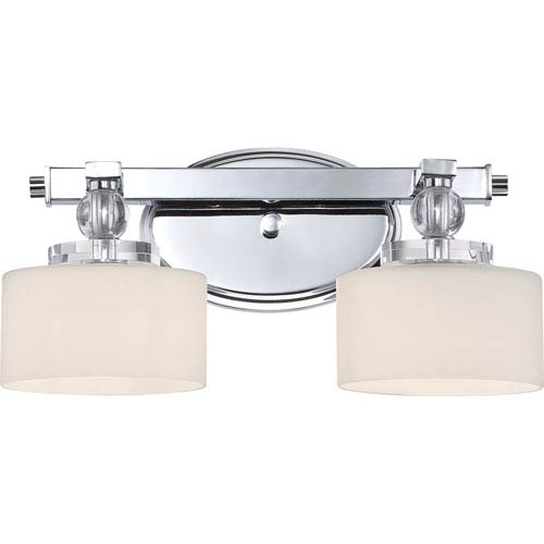 Downtown Polished Chrome Two-Light LED Vanity