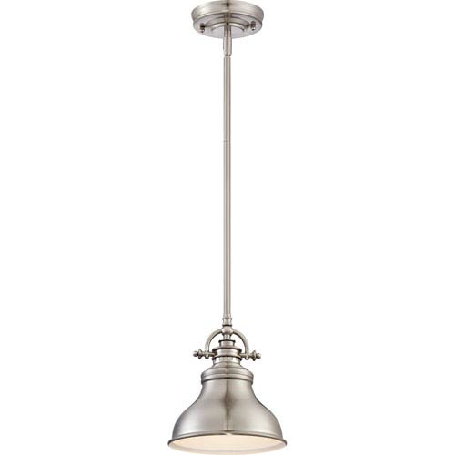 Emery Brushed Nickel One Light Mini Pendant