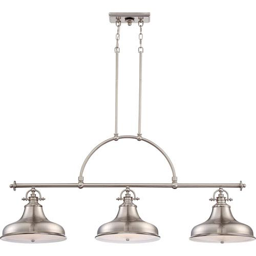 Emery Brushed Nickel Three-Light Pendant