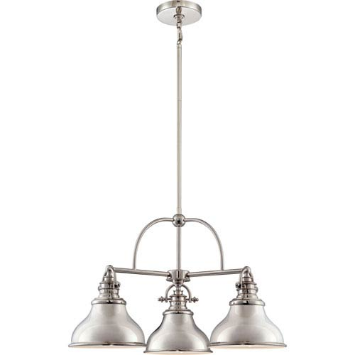 Quoizel Emery Imperial Silver Three-Light Chandelier