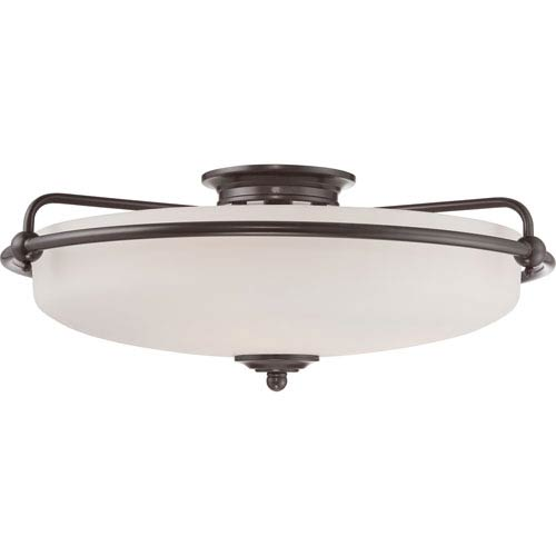 Griffin Palladian Bronze 8.5-Inch Four-Light Flush Mount
