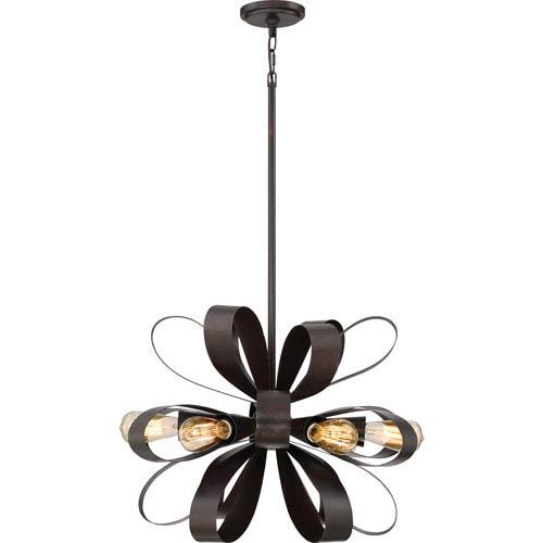 Gala Vino Bronze 24-Inch Six-Light Pendant