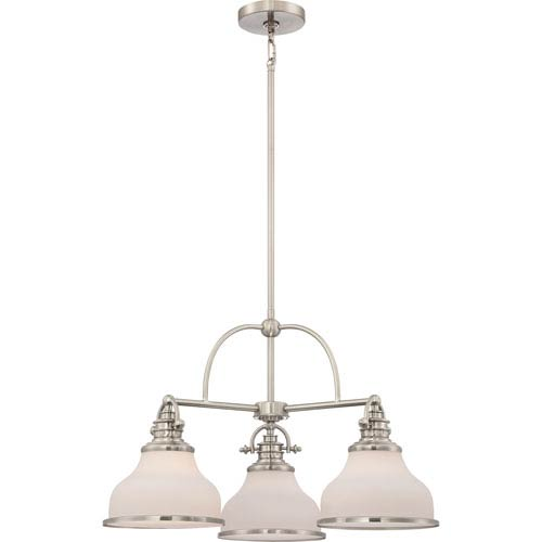 Grant Brushed Nickel Three-Light Chandelier