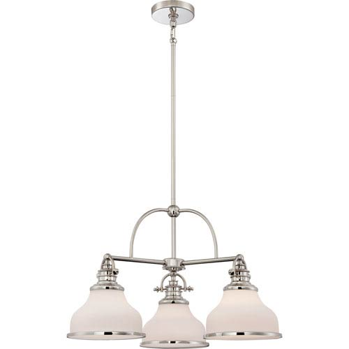 Quoizel Grant Imperial Silver Three-Light Chandelier