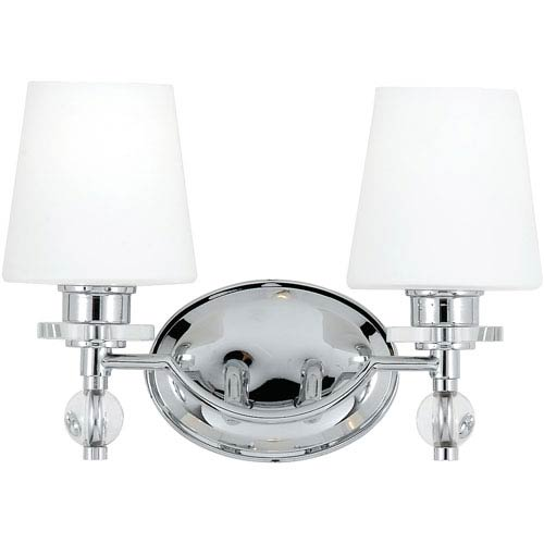 Two-Light Polished Chrome Hollister Bath Fixture