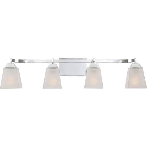 Quoizel Loft Polished Chrome 34-Inch Four-Light Bath Vanity