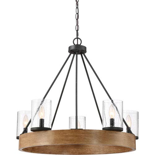 Lounge Grey Ash 28-Inch Five-Light Chandelier