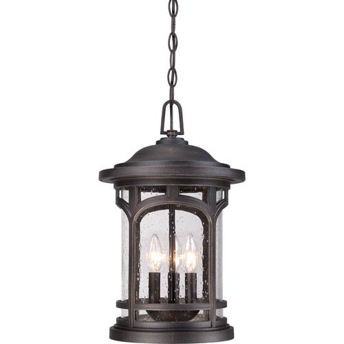 Quoizel Marblehead Palladian Bronze 18-Inch Height Three-Light Outdoor Hanging