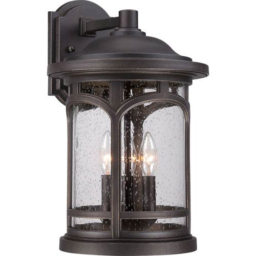 Quoizel Marblehead Palladian Bronze 17.5-Inch Height Three-Light Outdoor Wall Mounted