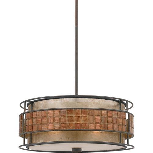 Mica Renaissance Copper Three-Light Pendant