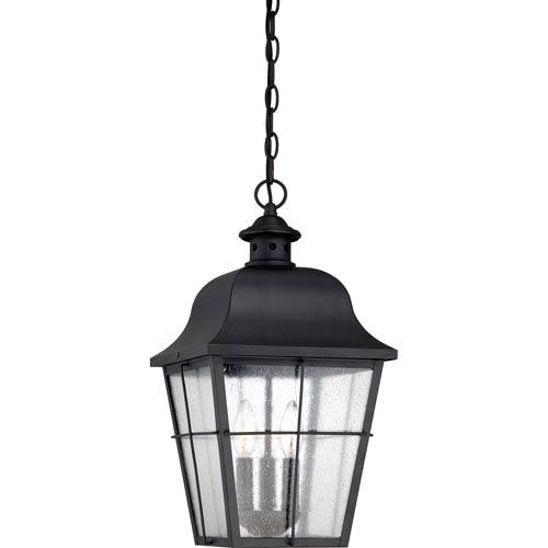 Quoizel Millhouse Mystic Black Three Light Outdoor Hanging