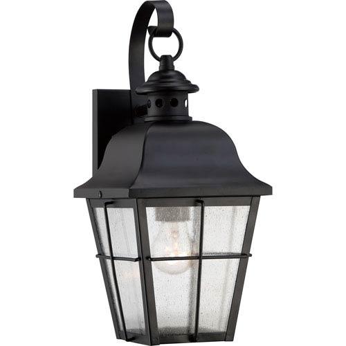 Quoizel Millhouse Mystic Black One Light Outdoor Wall Fixture