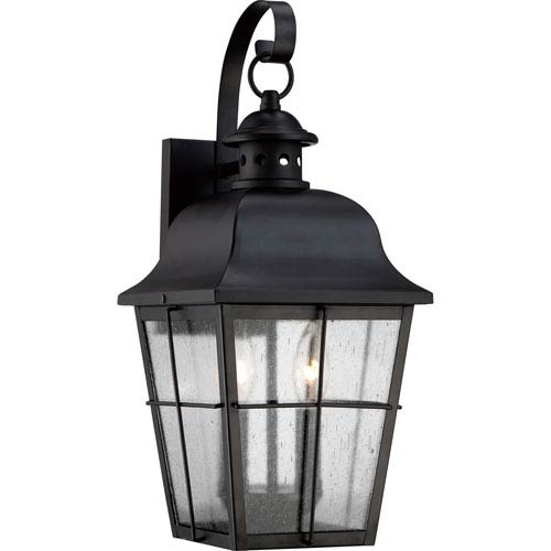 Millhouse Mystic Black Two Light Outdoor Wall Fixture