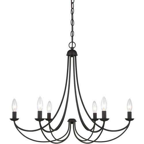 Mirren Imperial Bronze Six-Light Chandelier