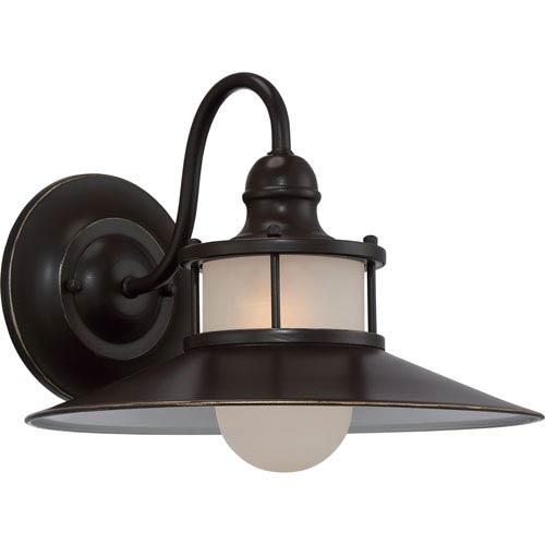 New England Palladian Bronze 14.5-Inch One-Light Outdoor Wall Lantern