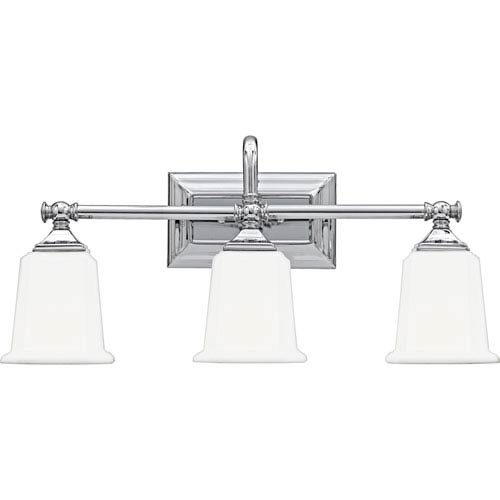 Nicholas Polished Chrome Three Light Bath Light