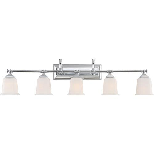 Nicholas Polished Chrome Five-Light Bath Light