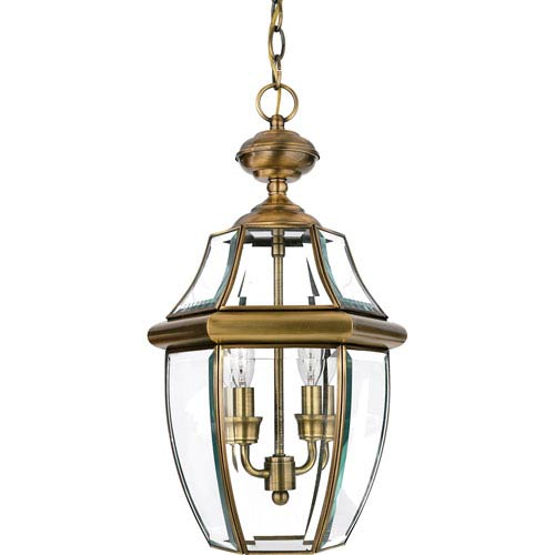 Newbury Outdoor Pendant- Antique Brass
