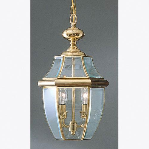 Newbury Outdoor Pendant - Polished Brass