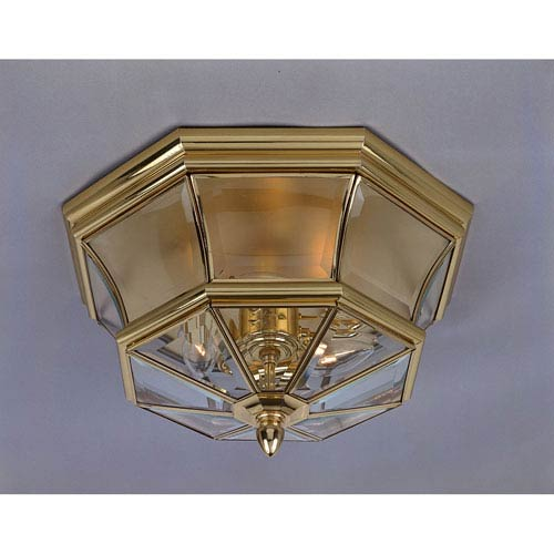 Polished Brass Flush Mount