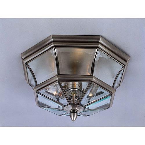 Newbury Pewter Outdoor Flush Ceiling Light