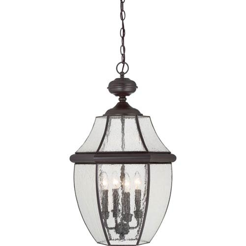 Newbury Medici Bronze 16-Inch Four-Light Outdoor Pendant