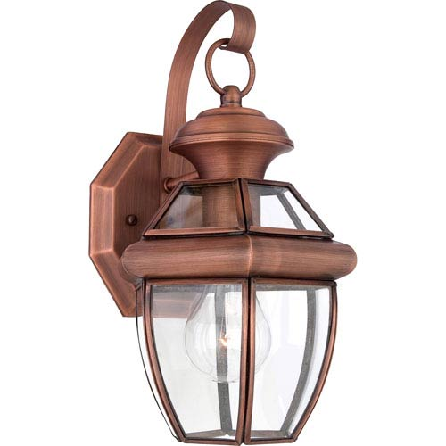 Quoizel Newbury Aged Copper 12.5-Inch One-Light Outdoor Fixture