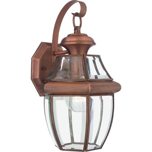 Quoizel Newbury Aged Copper Medium Outdoor Wall Mount