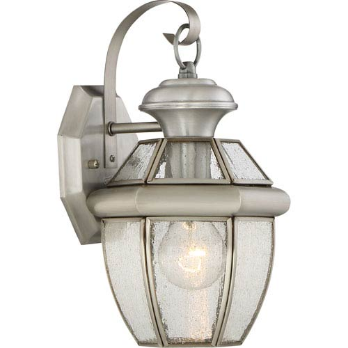 Newbury Pewter 7-Inch One-Light Outdoor Wall Lantern