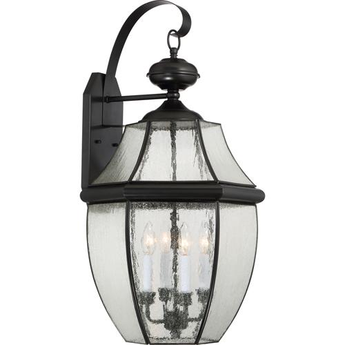 Newbury Mystic Black One-Light Outdoor Lantern