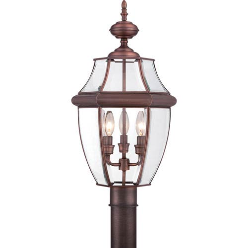Newbury Large Aged Copper Outdoor Post Mount