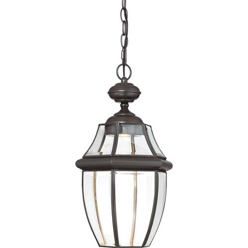 Newbury Clear LED Medici Bronze 11-Inch Outdoor Hanging Lantern