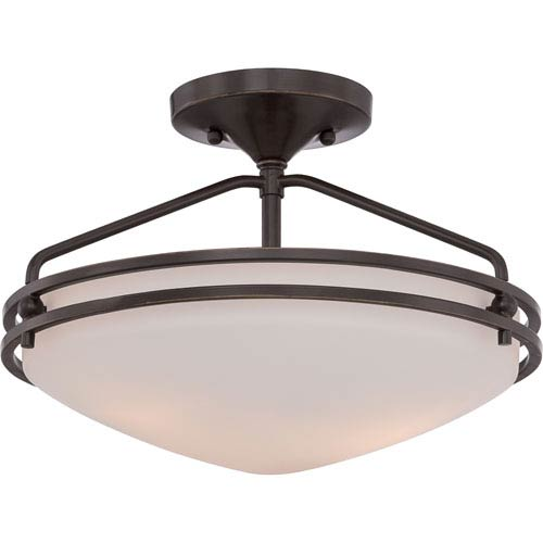 Quoizel Ozark Palladian Bronze 9.5-Inch Height Two-Light Close to Ceiling