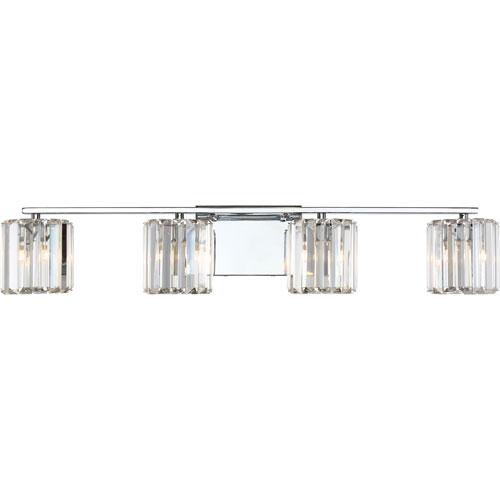 Platinum Collection Divine Polished Chrome Four-Light LED Vanity