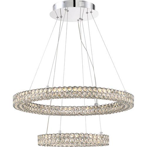 Quoizel Platinum Collection Infinity Polished Chrome 28-Inch LED Pendant