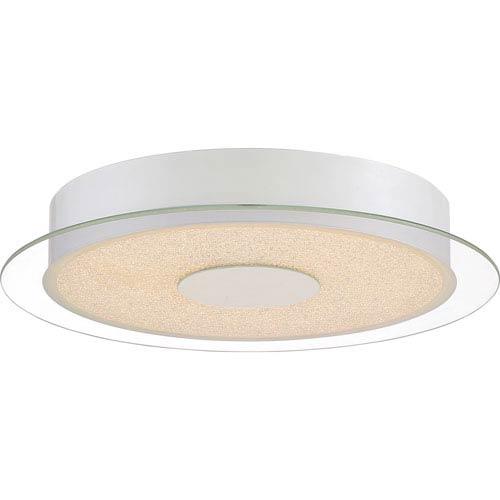 Quoizel Platinum Collection Moonlit White Lustre 14-Inch LED Flush Mount