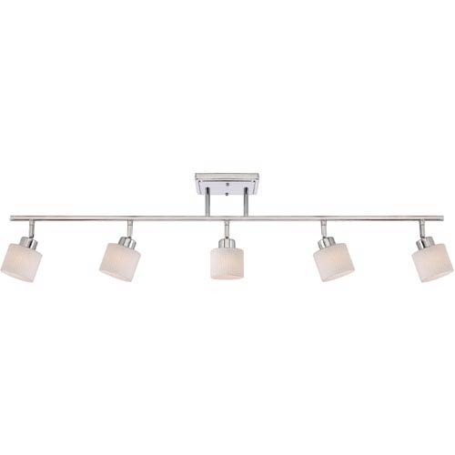 Pacifica Polished Chrome Five-Light Ceiling Track Light