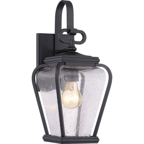 Quoizel Province Mystic Black Six-Inch Outdoor Wall Sconce