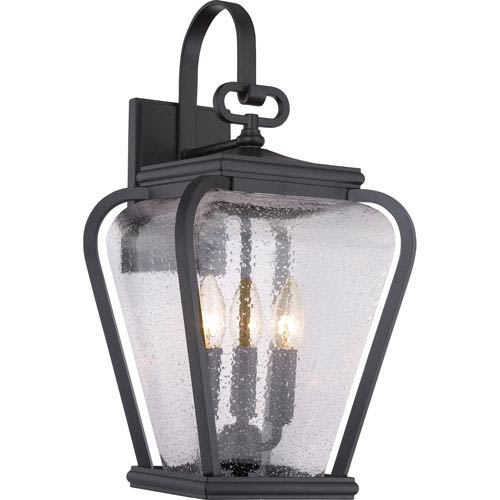 Quoizel Province Mystic Black Nine-Inch Outdoor Wall Sconce