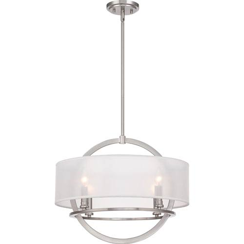 Quoizel Portland Brushed Nickel Four Light Pendant