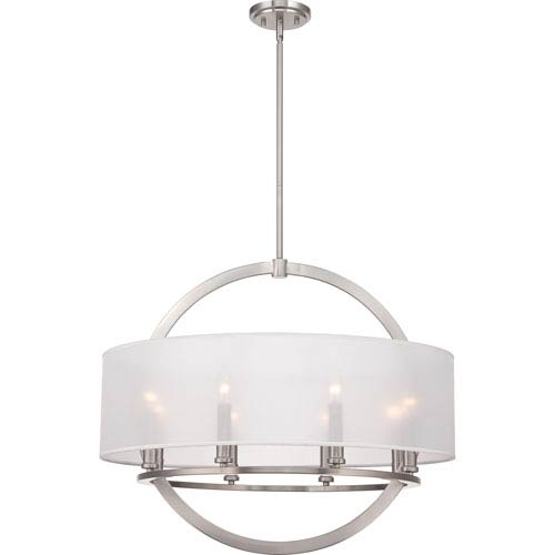Quoizel Portland Brushed Nickel Eight Light Pendant